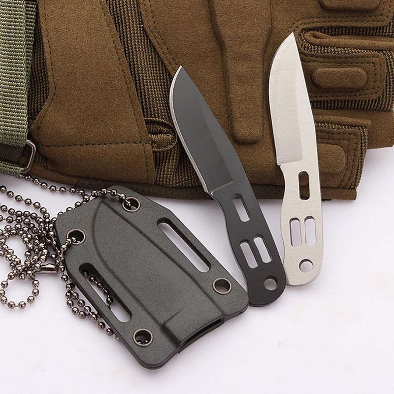 Складной нож из нержавеющей стали для повседневного использования, миниатюрный прямой Тактический клинок высокой твердости для выживания ...