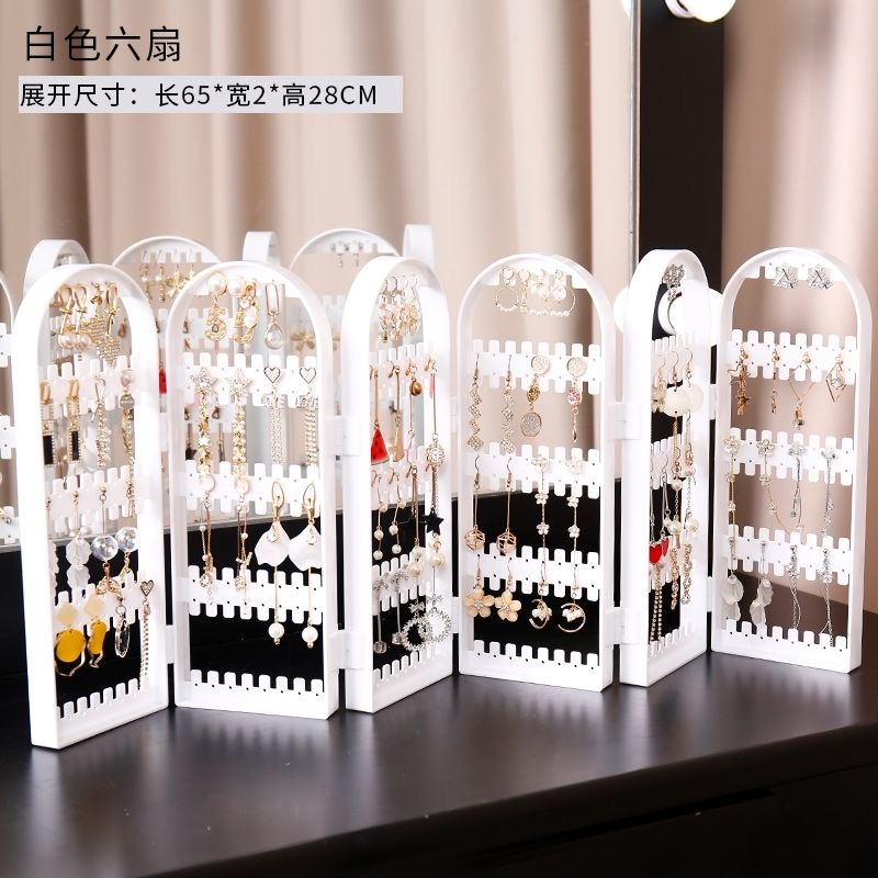 360Hole Plastic Transparent Earring Jewelry Nail Display Stand Folding Earring Jewelry Display Stand Storage Box NEW Arrivals