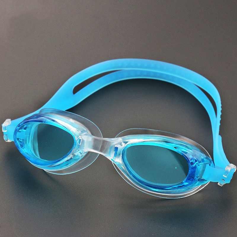 Unisex PC lensler yüzme gözlük su geçirmez Anti sis UV yüzücü gözlükleri gözlük yüzmek gözlük kutusu
