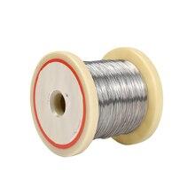 1 ม้วน 0.1/0.2/0.3/0.4/0.5mm เส้นผ่าศูนย์กลาง Cr20Ni80 ลวดความร้อน 10M Nichrome Wire โฟมตัดความต้านทานสายบ้านอุตสาหกรรมอุปกรณ์