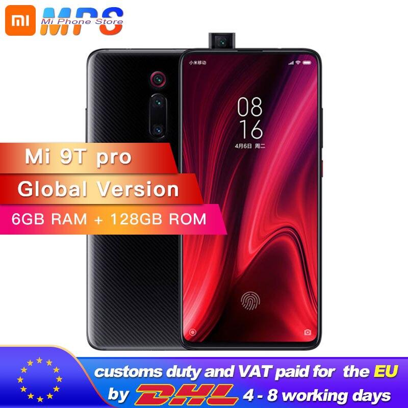 Version mondiale Xiao mi mi 9 T Pro 128GB 6GB Snapdragon 855 mi 9 T Pro téléphone portable 4000mAh 48MP caméra arrière AMOLED 6.39