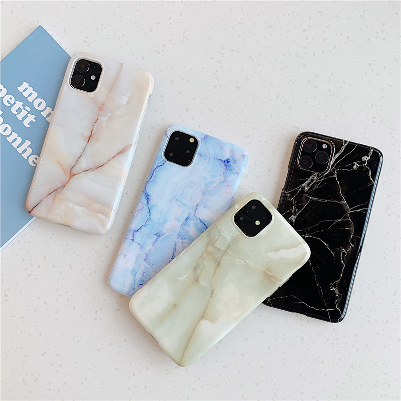 Marble Case For iPhone 11 <font><b>Pro</b></font> Max Back Cover on For Huawei P20 Lite P30 <font><b>Pro</b></font> Phone Coque Soft IMD Silicone Shell Skin XR image