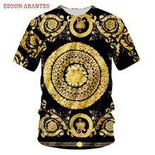 Plus Size S-7XL Palace Baroque Crown Floral T shirt Men Wome