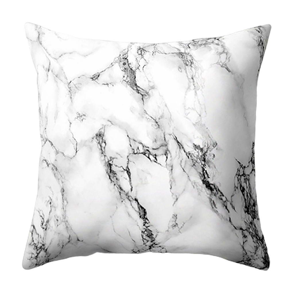 Marble Pattern Pillow Case Seat Cushion Covers Home Sofa Room Decor