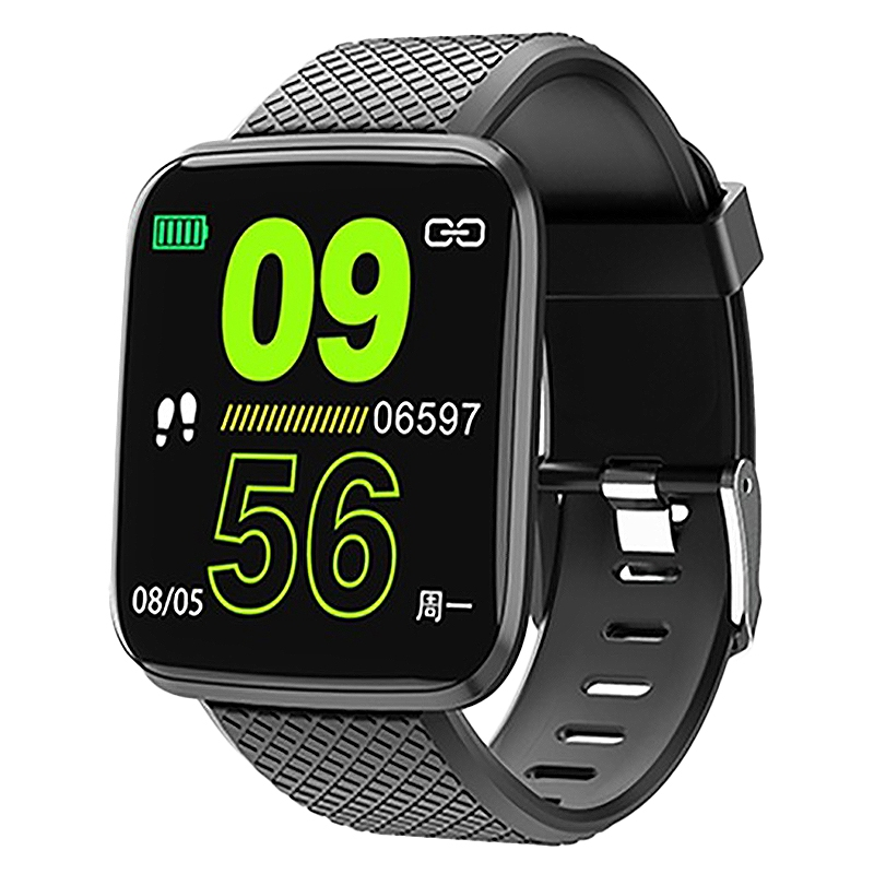 116 Plus2 UI Update Smart Watch Band HR Blood Pressure Monitor Multi Sport Modes Reminder Fitness Smart Watch Sports Fitness