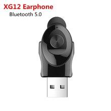 KEBIDU XG12 TWS Bluetooth 5.0 kulaklık Stereo kulakiçi Mic ile Handsfree USB spor kulaklık kulaklık kablosuz iPhone Samsung için