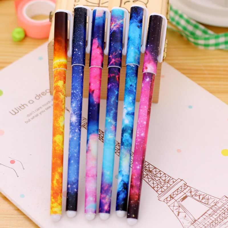 1pcs Kawaii 별이 빛나는 하늘 페인트 브러시 다른 모양 라운드 지적 팁 잉크 펜 그림 브러쉬 세트 미술 용품