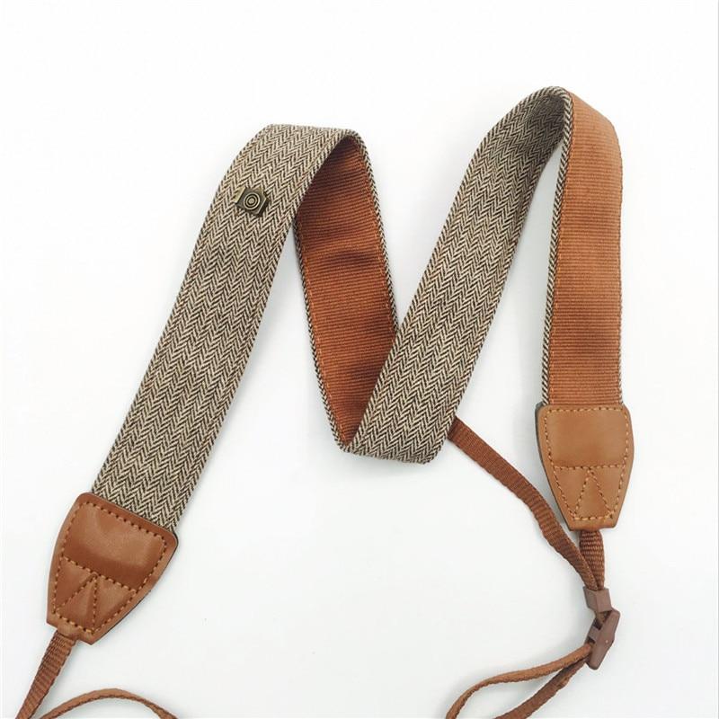 Newest Adjustable Cotton Leather Camera Strap Shoulder Neck Belt For Sony/ Nikon SLR Cameras Strap Accessories Part Universal