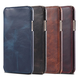 Image 5 - Solque Genuine Leather Flip Book Case For iPhone 11 12 Pro Max Mini Phone Cover Luxury Retro Vintage Card Holder Wallet Cases