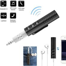 Portable Wireless Audio Aux Adapter 3.5mm Aux for Music DSP Noice Cancel with Built-in Microphone for Car Stereo AUX Speaker