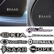 3D наклейка для стайлинга автомобиля, алюминиевая эмблема, внутренний динамик, звуковой значок для BMW M X1 X2 X3 X4 X5 X6 E46 E39 E90 E36 E60 E34 E30 F30