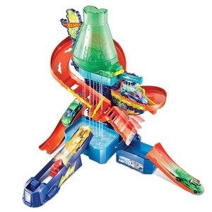 Image 3 - Originele Hot Wielen Track Stad Mega Wasstraat Aansluitbaar Play Set Diecast Discolour Hotwheels Speelgoed Voor Kinderen Verjaardagscadeau