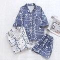 Летний Новый Стиль, 100% чистый хлопок, женские шорты с короткими рукавами, пижамный комплект с мультяшным медведем, комический стиль, домашни...