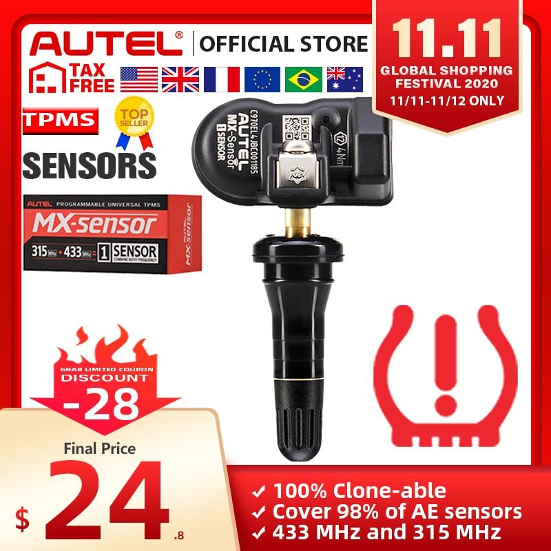 Autel MaxiTPMS PAD programmer Tire Pressure programming TPMS Sensor MX-Sensor 433 315MHz Mx Sensor autel TPMS tool for TS601