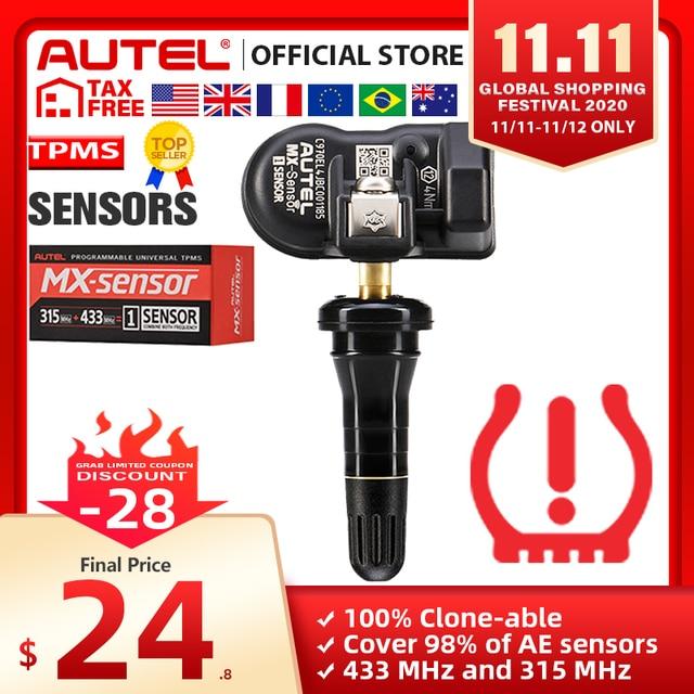 Autel MaxiTPMS PAD programmer Tire Pressure programming TPMS Sensor MX Sensor 433 315MHz Mx Sensor autel TPMS tool for TS601