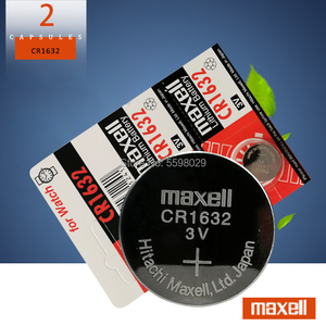 2Pcs/lot for maxell CR1632 1632 DL1632 3V Lithium Batteries Cell Button Coin Battery Calculator Toy Medical Device Batteries
