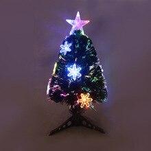 Рождественское мини-волокно дерево светодиодные фонари волоконная елка USB вилка волоконная елка фабричная розетка искусственные Украшенные украшения для дома