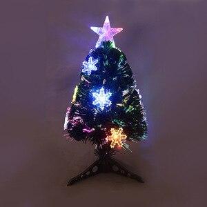 Рождественское мини волокно дерево светодиодные фонари дерево USB вилка волокно дерево Заводская розетка искусственные украшения для дома