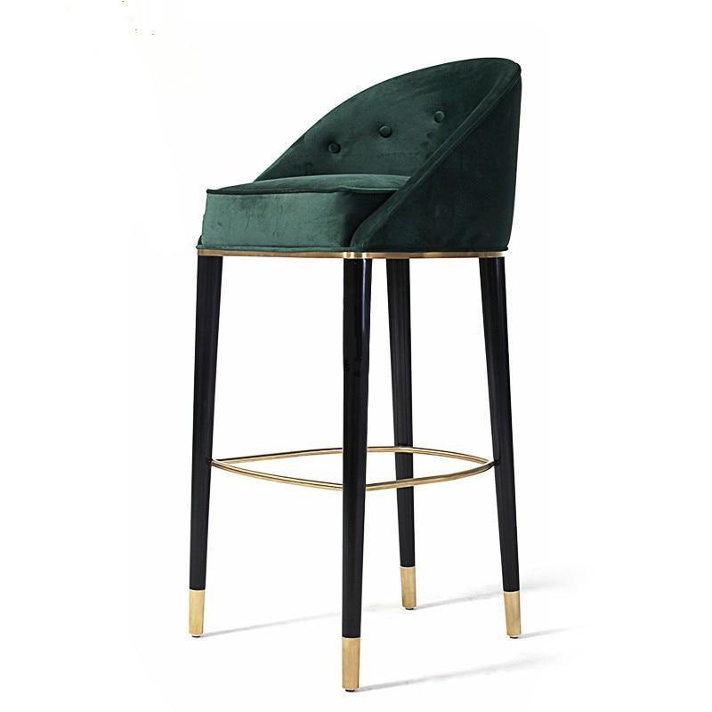 American Solid Wood Bar Chair European Retro Creative High Stool Modern Minimalist Fashion Bar Chair Bar Stool Bar Chair