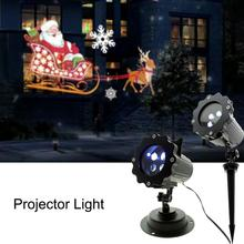 Christmas LED Laser Projector Light Remote Control Snowman Santa New Year Projection Light Waterproof Garden Decoration Lamp