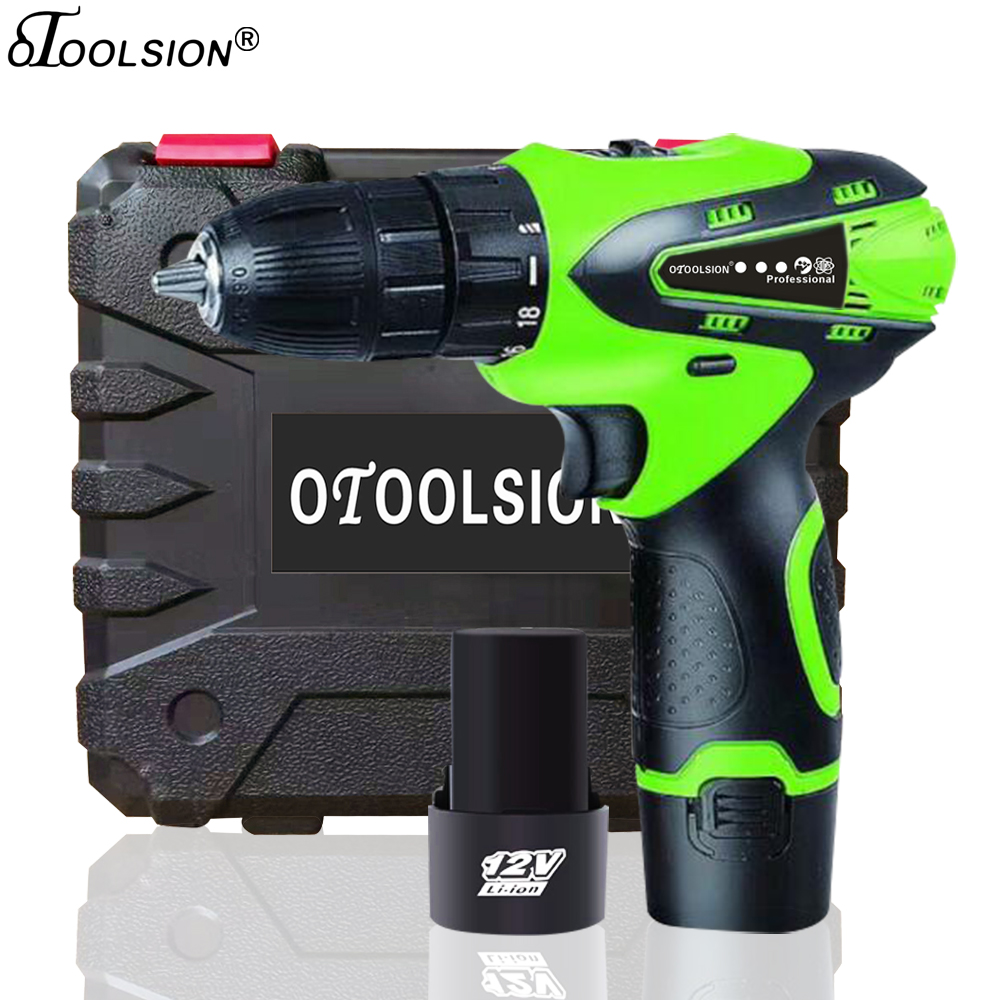 1.5Ah 12V Electric Drill Wireless Drill Electric Tools Cordless Screwdriver Electronic Screwdriver With Rechargeable Battery