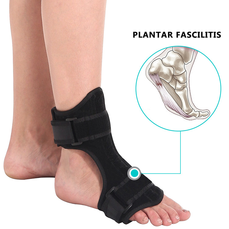 Foot Orthosis Stabilizer Plantar Fasciitis Dorsal Night&Day Splint Adjustable Drop Foot Orthotic Brace Support Pain Relief