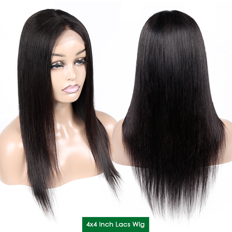 Aircabin Hair Brazilian Wig 4*4 Straight Lace Closure Wig 8
