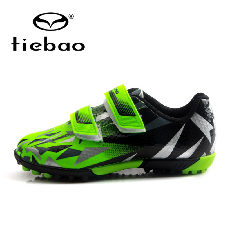 TIEBAO Boys Football Boots TF Turf Soccer Shoes Kids Cleats Training Football Shoes Sport Sneakers Size 25-32 Chuteira Futebol