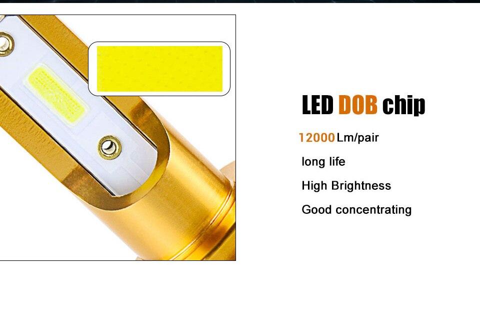 Мини Canbus лампада светодиодный H4 H7 светодиодный автомобилей головной светильник 12V 6500K 10000LM 4300 К 3000 8000 ксеноновая лампа H1 9005 HB3 9006 HB4 H8 H11 Светильник лампы