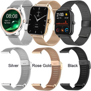 Image 2 - Watchband Case For Xiaomi Amazfit GTS 2 Mini Bip U Pro S Lite Strap Touch Screen Protector Milanese Stainless Steel Wristband