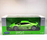 Welly 1:18 Lamborghini Huracan LP610 4 Green Racing Diecast Car Model NEW IN BOX