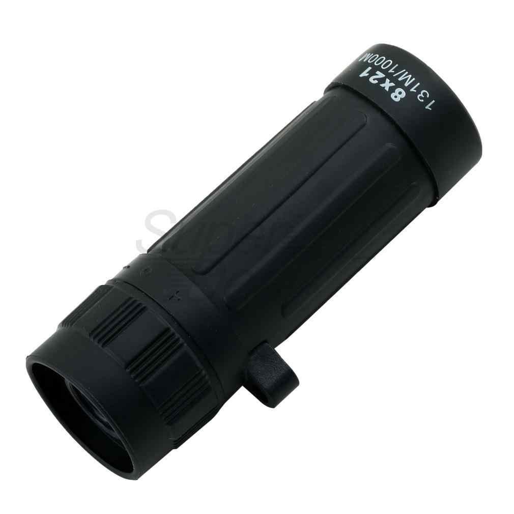 8X กล้องโทรทรรศน์เดียว 8X21 Camping HuntingTelescope Handy Scope Monocular ขนาดกะทัดรัดกล้องส่องทางไกลแบบพกพาสีดำสำหรับล่าสัตว์