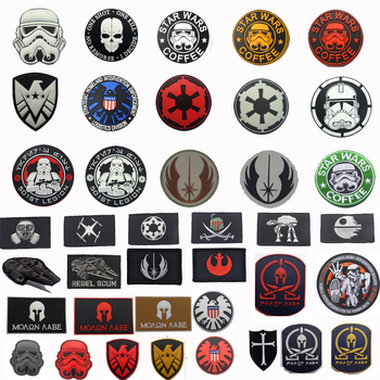 Military patches Star Wars Coffee patch 3D PVC or Embroidered Tactical Badges for clothes bags with Hook & Loop