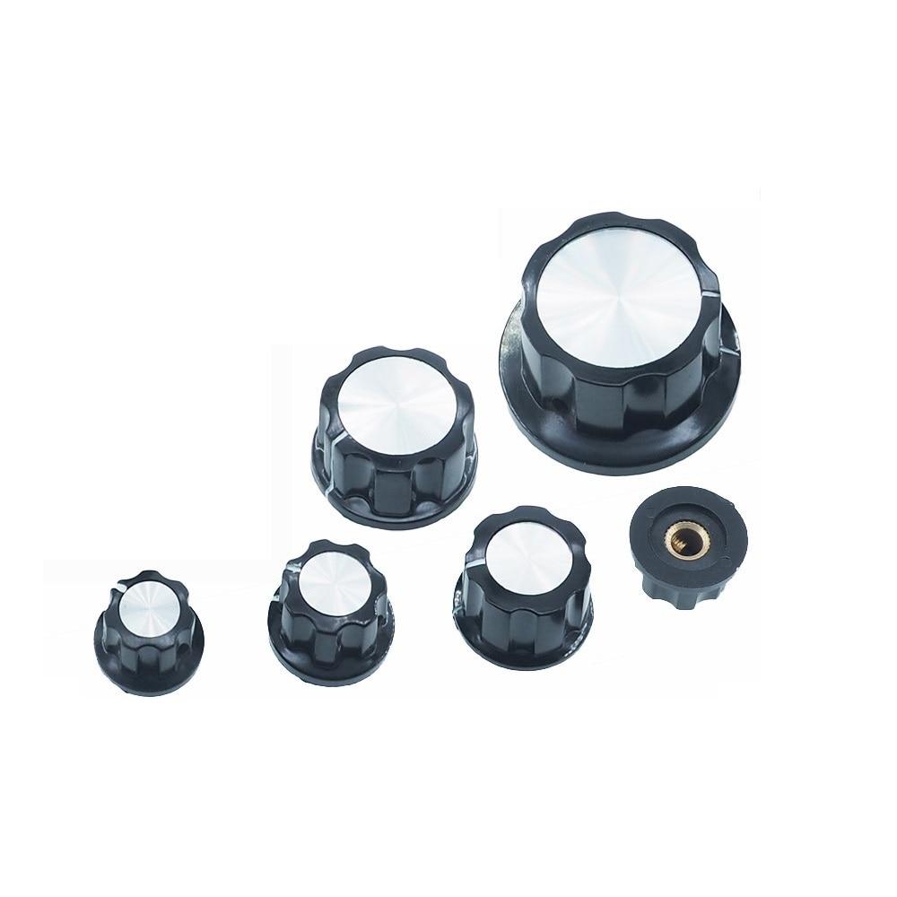 Taidacent 100 Pcs MF-A01/A02/A03/A04/A05 Multi Turn Potentiometer Cap 6mm Shaft Knob Bakelite Knob Cap Inner Hole 6MM / 6.4MM