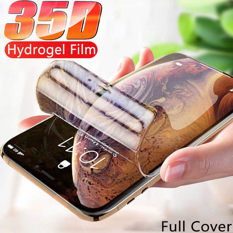 35D Full Cover Hydrogel Film For iPhone 11 Pro XS Max Screen Protector For iPhone 7 8 6 6S Plus X XR Protective Film Not Glass