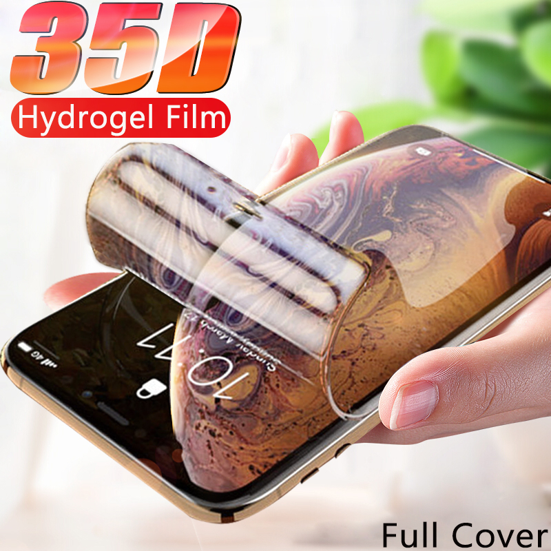 35D Full Cover Hydrogel Film For iPhone 11 Pro XS Max Screen Protector For iPhone 7 8 title=