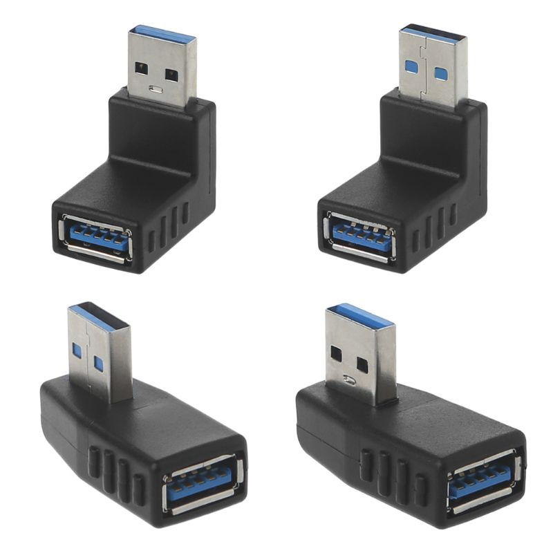 90 Degree Left Right Angled USB 3.0 A Male To Female Adapter Connector For Laptop PC   Drop Ship
