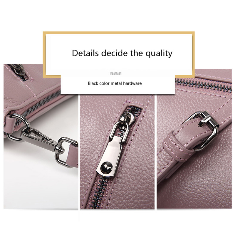 Aodux 2019 NEW Small Summer 100% Genuine Leather Cowhide Women Long Strap Shoulder Bags Female Handbag Lady Messenger Bag Purse - 5
