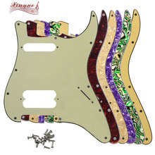 Pleroo Guitar Parts - For FD US 11 Screw Hole Standard Start Player HS Guitar pickguard Double pickup screw with No knob hole relays g6b 1174p fd us g6b 1174p g6b 1174p fd us dc24v 24v