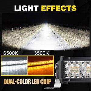 Image 4 - Co Licht 22 32 42 50 Inch Gebogen Led Light Bar Strobe Combo 390W 585W 780W 936W 3 Rij Voor Rijden Offroad Auto Vrachtwagen 4X4 Suv 12V