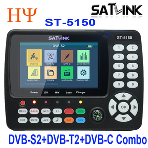 Image 2 - Satlink ST 5150 DVB S2 DVB T/T2 DVB C Combo Besser Satlink 6980 Digital Satellite Meter Finder h.265 satlink ws 6933 kpt 716ts