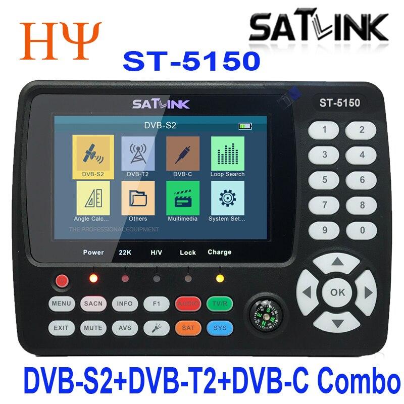 Satlink ST-5150 DVB-S2 DVB-T/T2 DVB-C Combo Better Satlink 6980 Digital Satellite Meter Finder H.265 Satlink Ws-6933 Kpt-716ts