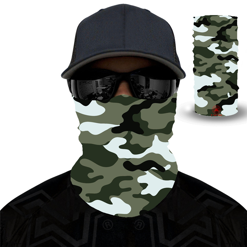 27 Style Camouflage Polyester Scarves Face Dust Mask Outdoor Sport Cycling Bandanas Camping Hiking Washouts Headwear Magic Scarf