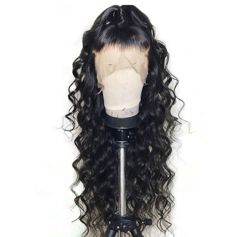 250 Density Loose Wave Full Lace Human Hair Wigs For Women Swiss Brazilian Lace Wig Pre Plucked Glueless Black Dolago Wig