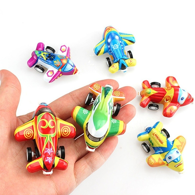 6PCS Pull Back Aircraft Toy Plane Party Favor Mini Toy Airplanes Set For Boys Kids Child Birthday Play Plastic Plane Gift