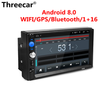 Threecar 2 din Android 8 0 universal Car Radio Mirror link android radio Player GPS NAVIGATION