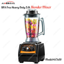A7400 BPA free 2800W Heavy Duty 3.9L Blender Mixer Commercial Juicer Food Processor Ice Smoothie Blender with Japan Blade a7400 2800w bpa free 3hp 3 9l heavy duty commercial blender professional power blender mixer juicer food processor japan blade