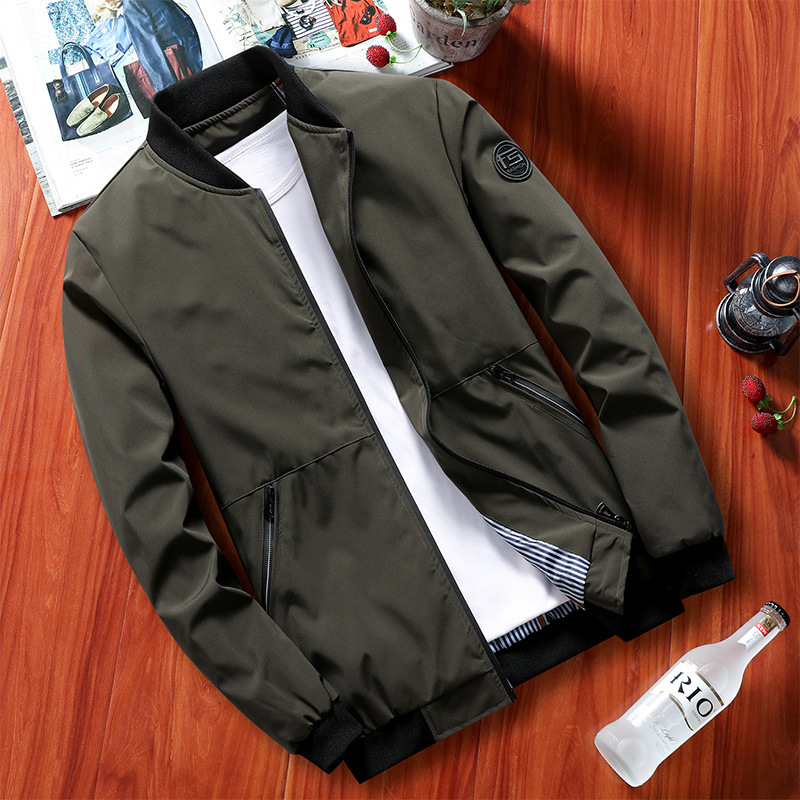 Jacket Men's 2019 Autumn New Style Men Jacket Solid Color Thin Men Trend Jacket Casual Coat