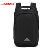 2019 New Anti theft Backpacks Male Business Waterproof Cut proof Computer Backpack College and High School Students Bag