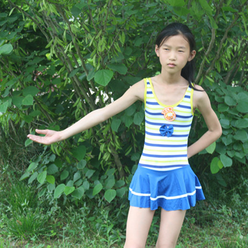 Korean-style KID'S Swimwear Girls Navy Style Big Boy Baby One-piece Bathing Suit Skirt Swimming Suit Swimming Trunks